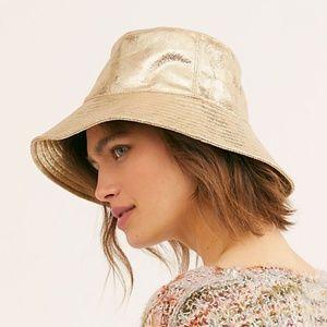 Free People Tick Tock Metallic Bucket Hat